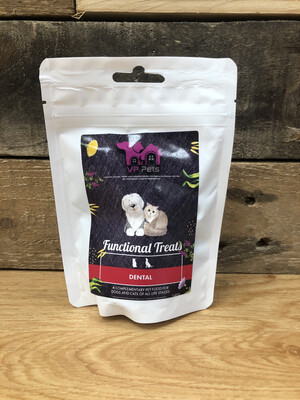 VP Cat And Dog Dental Treat. Wild Boar, Turkey And Peppermint. Reward And Training Treats