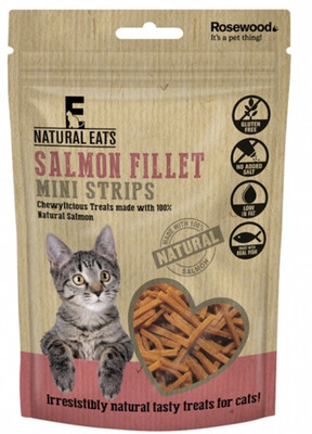 Rosewood Salmon Fillet Mini Strips For Cats 50g