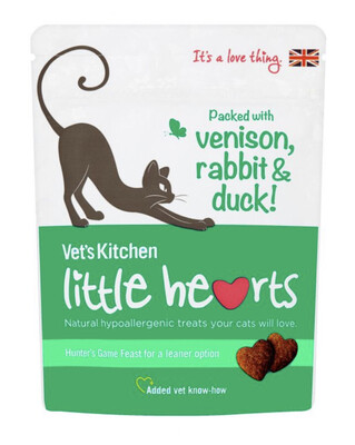 Cat Treats Vets Kitchen Little Hearts Game Treats For Cats 60g