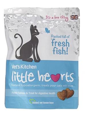Cat Treats Vets Kitchen Little Hearts Salmon Treats For Cats 60g
