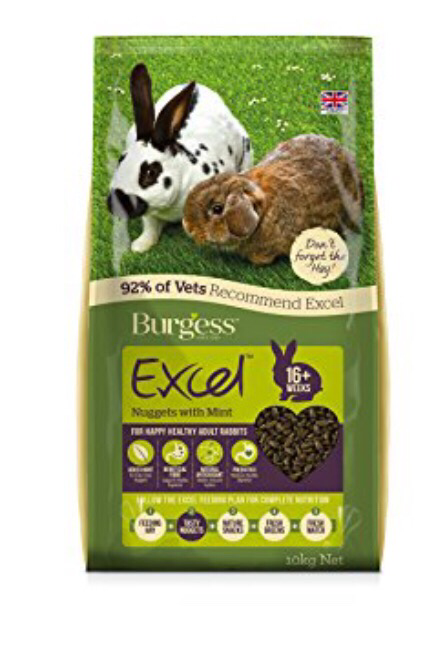 Burgess Excel Rabbit Adult 10kg NEW PRICE! RRP £22.50