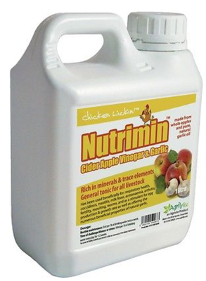 Poultry Nutrimin Cider Apple Vinegar & Garlic 1 litre