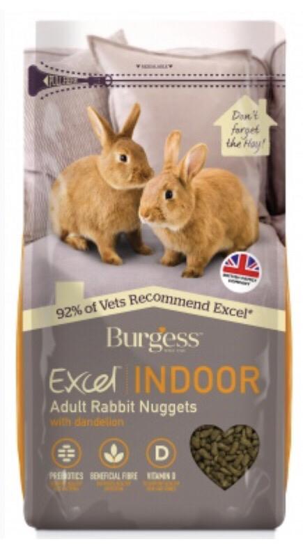 Burgess Excel Rabbit Indoor (High Fibre & Prebiotics) 1.5kg