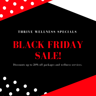 BLACK FRIDAY SALE 20% OFF 4 60-Minute Massage Therapy Sessions