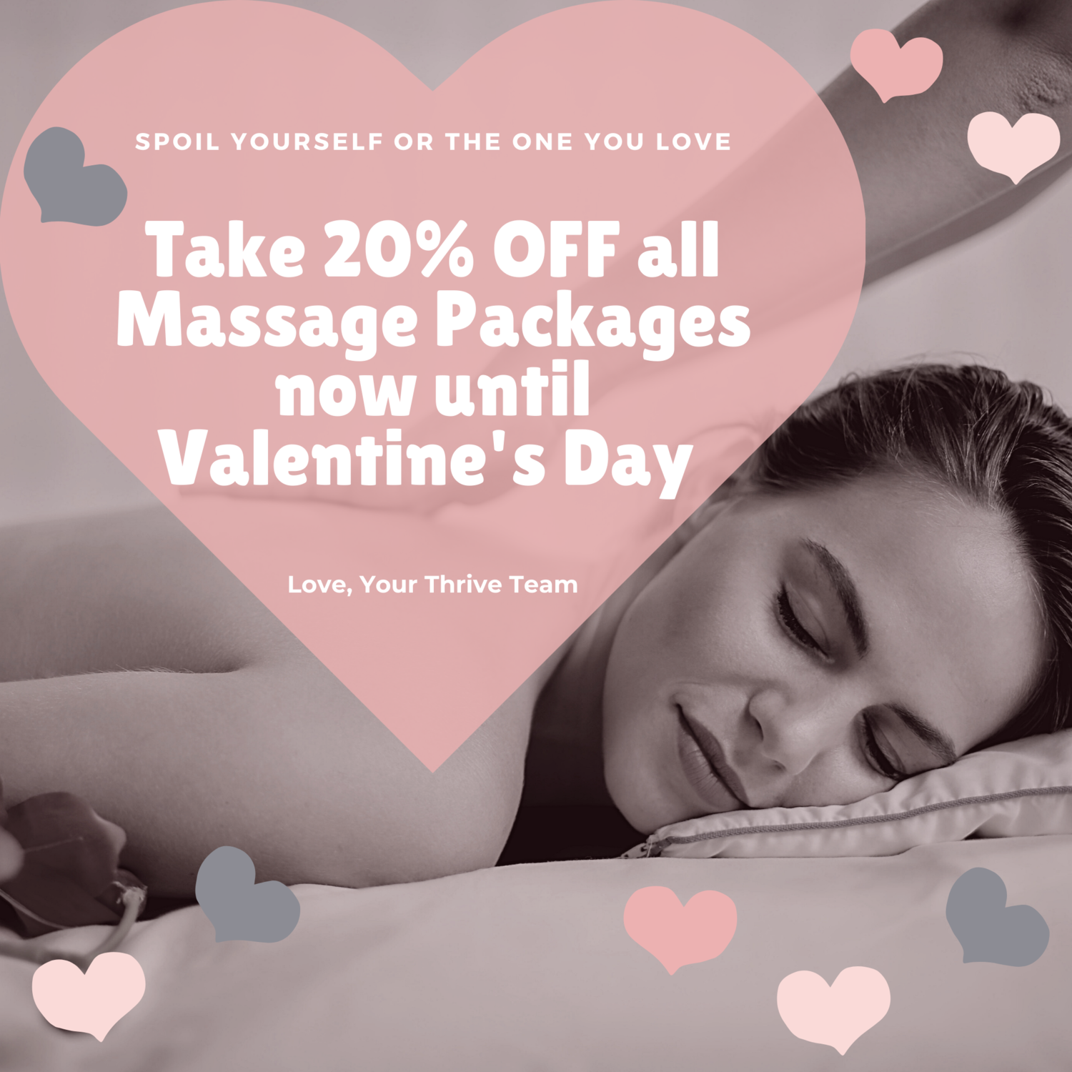 VALENTINE'S DAY SALE 20% OFF 12 60-Minute Relax and Rejuvenate Massage Sessions