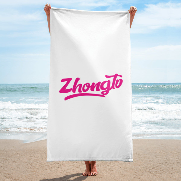 ZHONG.TV SCRIPTED BEACH TOWEL