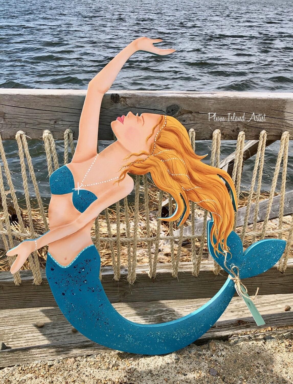 Hand-Painted Mermaid Cutout