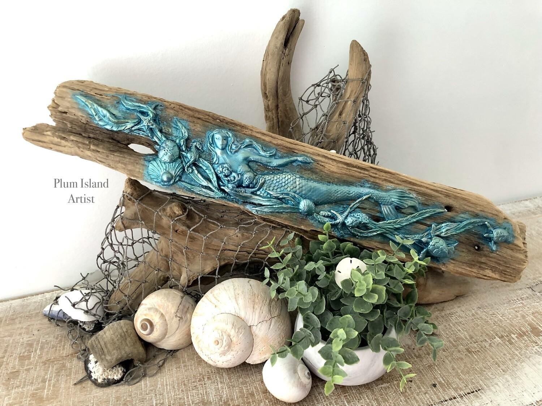 Mermaid on Driftwood One
