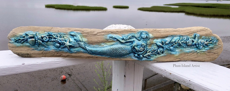 Mermaid on Driftwood Two