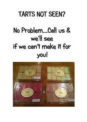 TARTS NOT SEEN? Call 618-638-3362!