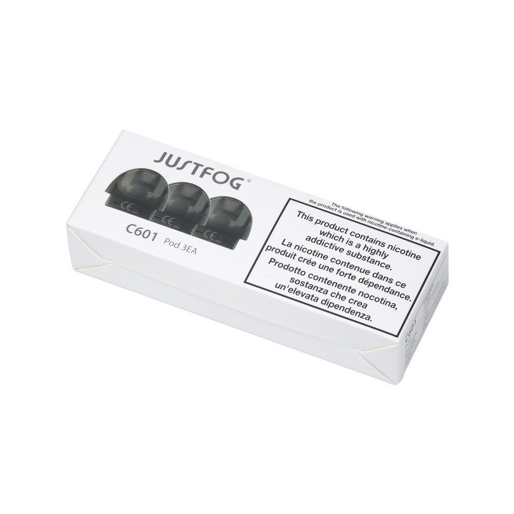 Justfog  Replacement Pods C601 بودات سحبة سيجارة من جست فوق