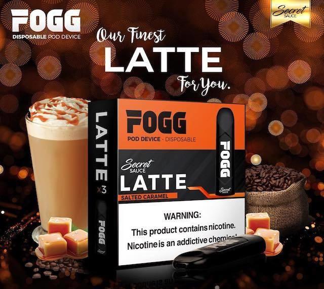 Fogg Latte Stick 3-Pack Disposable Device - علبة ستيك فوق بنكهة قهوة اللاتيه بثلاث اجهزة