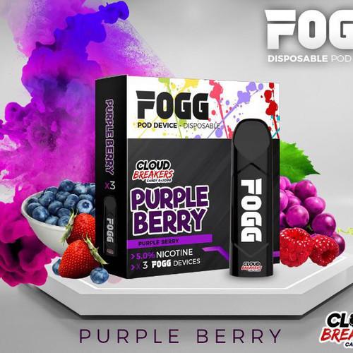 Fogg Cloud Breakers Purple Berry Stick 3-Pack Disposable Device - علبة ستيك فوق بنكهة كلاود بريكرز توت بثلاث اجهزة
