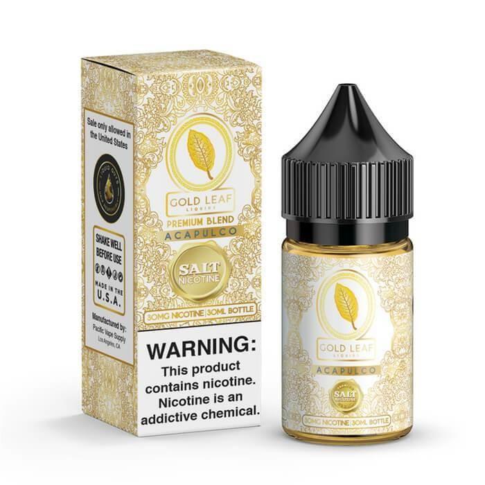 Gold Leaf Acapulco Vanilla Tobacco Cream Salt Nicotine جولد ليف توباكو وفانيلا وكريمة نيكوتين ملحي