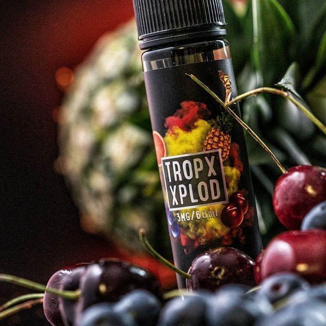 Sam Vapes - Tropx Xplod Freebase for Ecigs نكهة الفواكه الاستوائية من سام فيبس نيكوتين حر لسحبة السيجارة