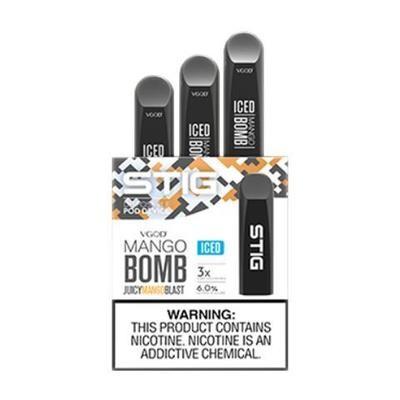 STIG Mango Bomb Iced 3-Pack Disposable Device - علبة 3 أجهزة مانجو بومب باردة من ستيج