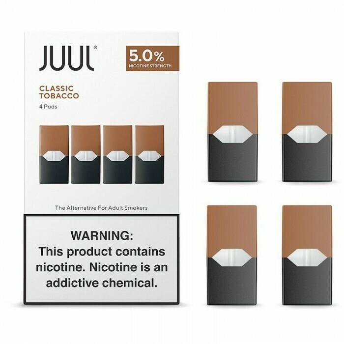 Juul Classic Tobacco Replacement Pods - 50MG - بودات توباكو لجهاز سحبة السيجارة جول