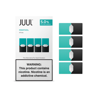 Juul Minthol Replacement Pods - 50MG - بودات نعناع لجهاز سحبة السيجارة جول