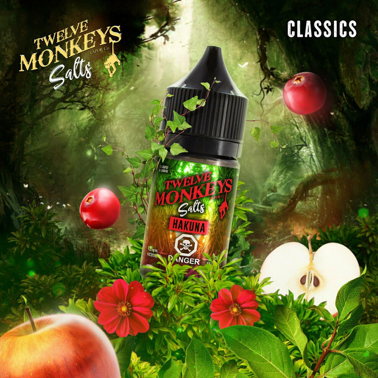 Twelve Monkeys Salt Hakuna تويلف مونكيز هاكونا نيكوتين ملحي