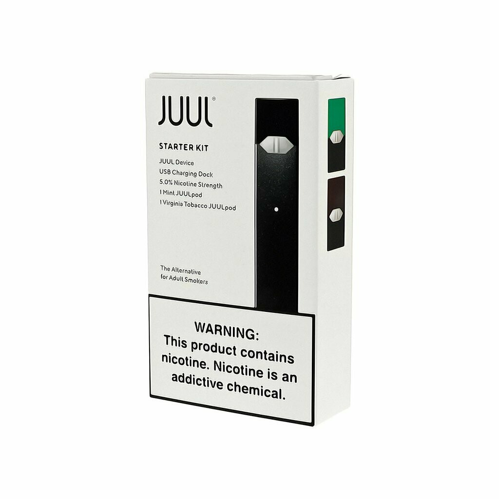 Juul Pod System Starter Kit with 2 Pods جهاز جول سحبة سيجارة مع بودين