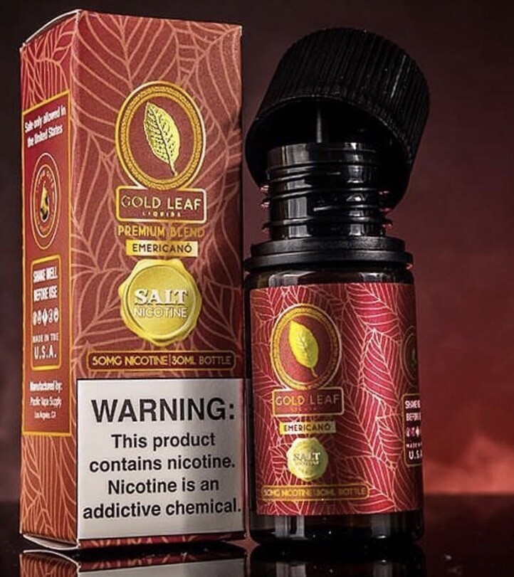 Gold Leaf Emericano Coffee Tobacco Salt Nicotine جولد ليف توباكو وقهوة نيكوتين ملحي