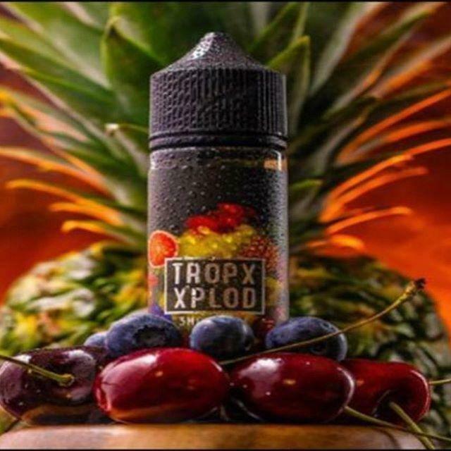 Tropx Xplod Salt by Sam Vapes - تروبكس اكسبلود نيكوتين ملحي فواكه استوائية