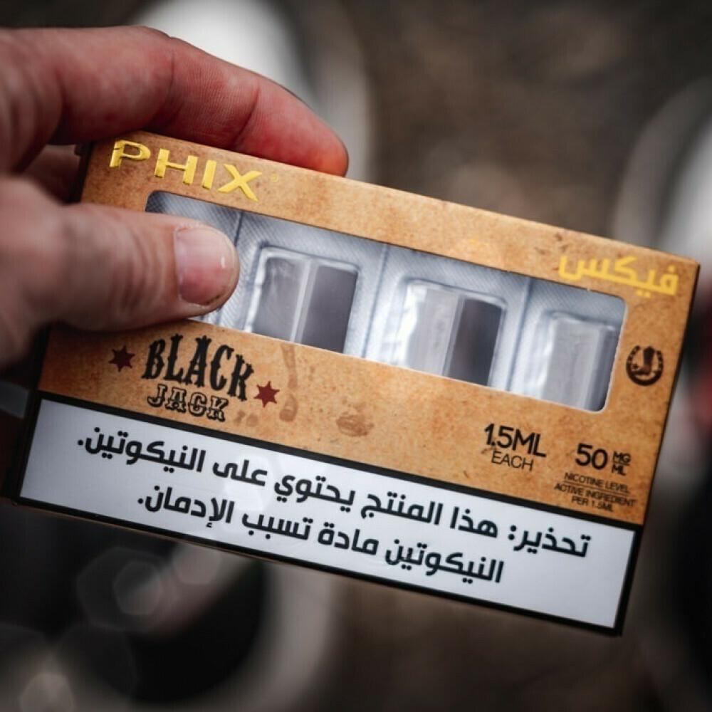 Phix Black Jack Replacement Pods - 50MG - بودات بلاك جاك سيجار لجهاز سحبة السيجارة فيكس
