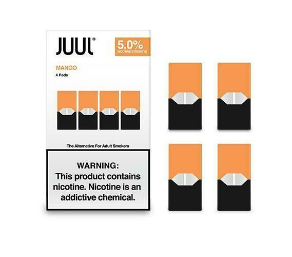Juul Mango Replacement Pods - 50MG - بودات مانحو لجهاز سحبة السيجارة جول