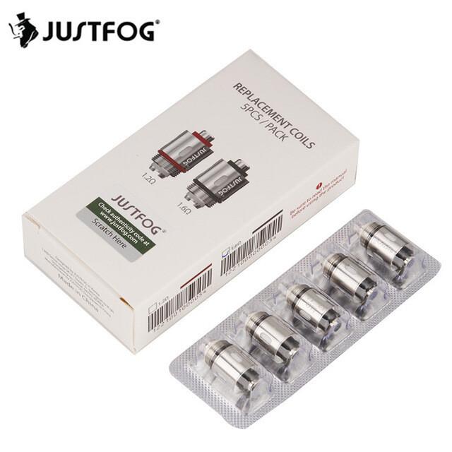 Justfog P16A Replacement Coils -5 PCs 1.6 ohm- بودات P16A سحبة سيجارة من جست فوج