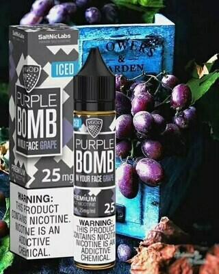 VGOD/SaltNic - Purple Bomb Iced القنبلة البنفسجية الباردة من في جاد نيكوتين ملحي