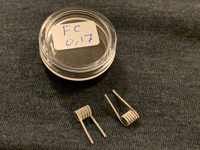Handmade Fused Clapton Coils 0.17Ω زوج كويلات فيوزد كلابتون صناعة يدوية