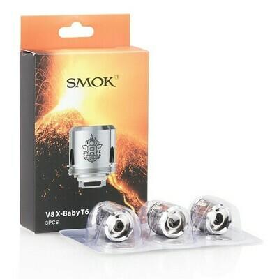 Smok TFV8 X-Baby T6 Coils كويلات اكس بيبي ثلاث فتحات