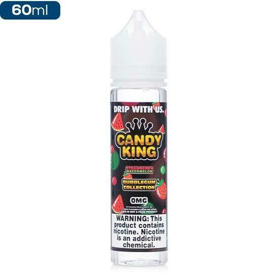 Candy King Strawberry Watermelon Bubblegum 60ml كاندي كينج علكة بطيخ وفراولة