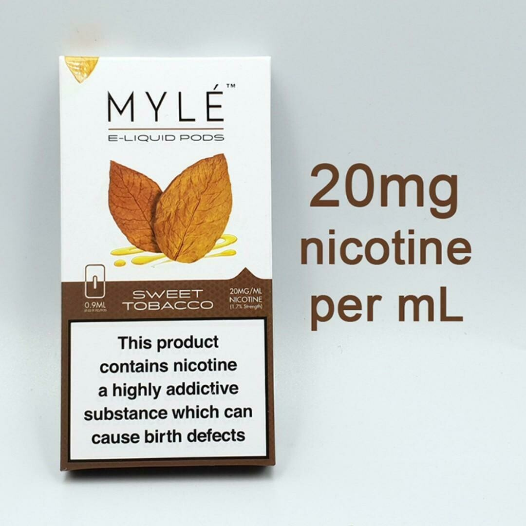 Myle Sweet Tobacco Replacement Pods 20MG بدات مايلي توباكو حلو نيكوتين ٢٠