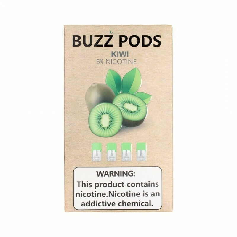 Buzz Kiwi Replacement Pods (Juul Compatible)- 50MG - بودات كيوي من شركة باز متوافقة مع جهاز جول