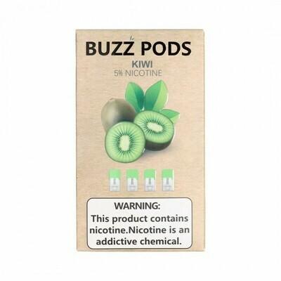 Buzz Kiwi Replacement Pods (Juul Compatible)- 50MG - بودات كيوي من شركة باز متوافقة مع جهاز جول