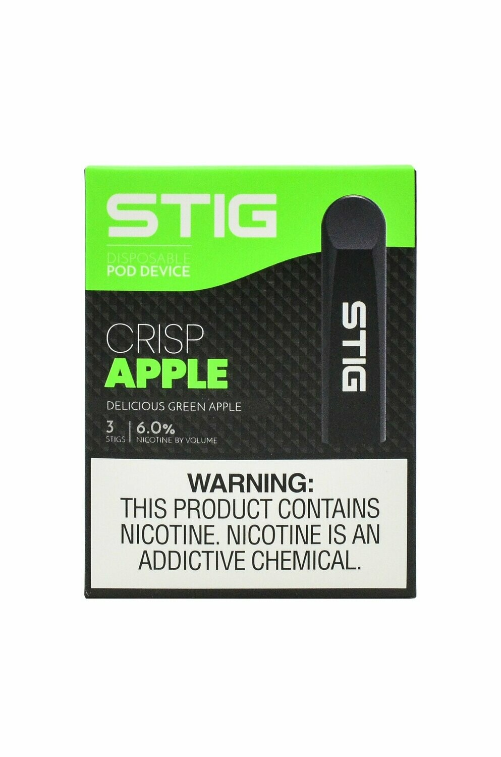 STIG Crisp Apple 3-Pack Disposable Device - علبة 3 تفاح أخضر من ستيج