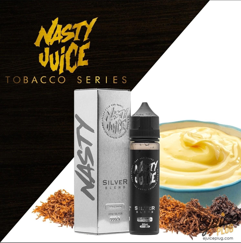 Nasty Silver Blend Tobacco Vanilla Custard ناستي سلفر توباكو مع الفانيلا والكاسترد