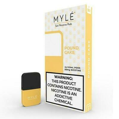 Myle Pound Cake Replacement Pods (for Magnetic Myle Only) - 50MG - بودات باوند كيك لجهاز سحبة السيجارة مايلي المغناطيسي فقط