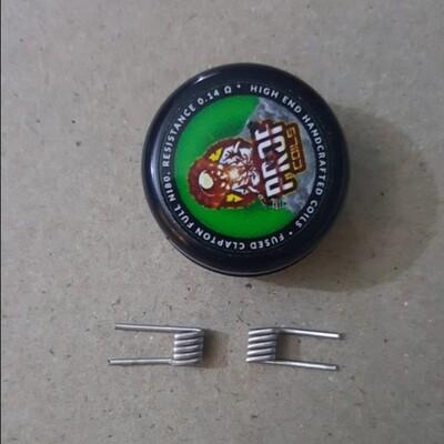 Handmade Fused Clapton Coils 0.14Ω زوج كويلات فيوزد كلابتون صناعة يدوية