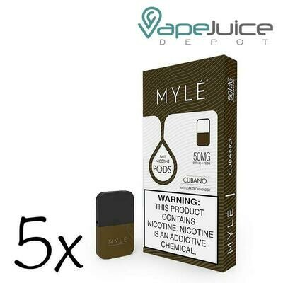 Myle Cubano Replacement Pods (for Magnetic Myle Only) - 50MG - بودات كوبانو لجهاز سحبة السيجارة مايلي المغناطيسي فقط
