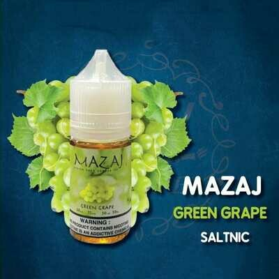 Mazaj Green Grape Salt Nicotine  مزاج عنب أخضر نيكوتين ملحي