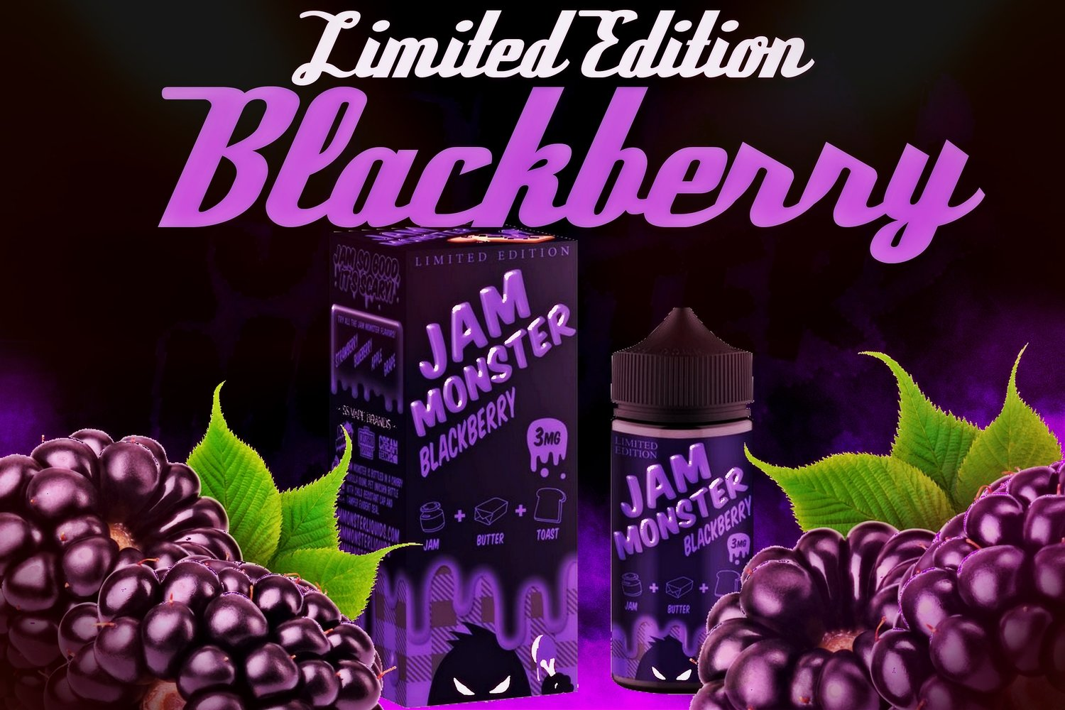 Jam Monsters - BlackBerry جام مونستر توت أسود