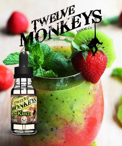 TWELVE MONKEYS - Kanzi Strawberry Kiwi تويلف مونكيز فراوله وكيوي