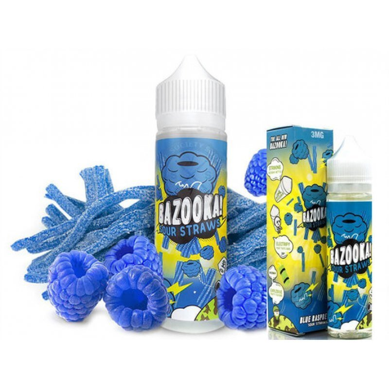 BAZOOKA - SOUR STRAWS Blue Rassberry بازوكا توت أزرق