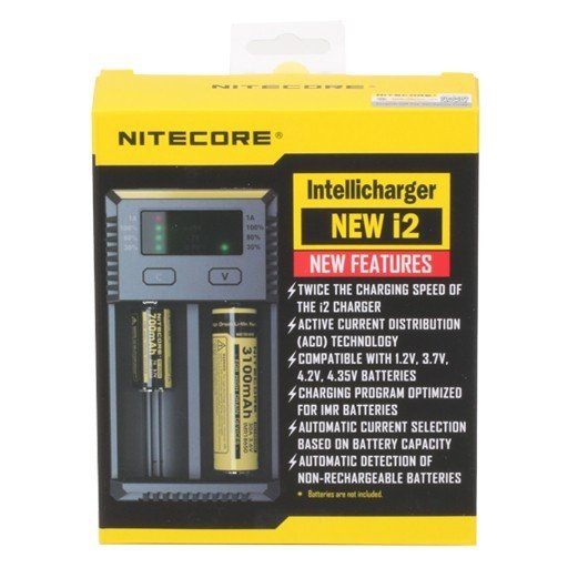 Nitecore Intellicharger New I2 شاحن بطاريات ثنائي من نايتكور