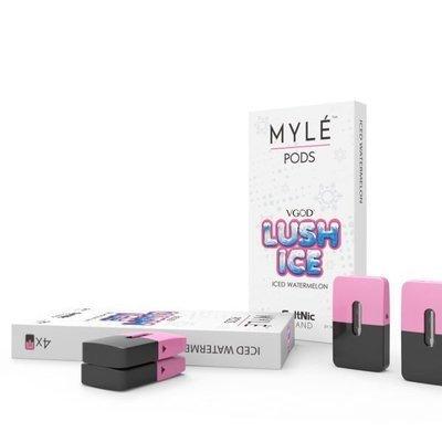 Old Myle Lush Ice  Replacement Pods - 50MG - بودات بطيخ بالنعناع لجهاز سحبة السيجارة مايلي الإصدار القديم
