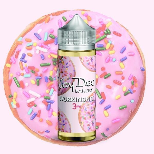 JayDee Bakery Workinonit جي دي دونات بالشوكولاته الزهرية مع البيضاء بنثرات من السكر الملون