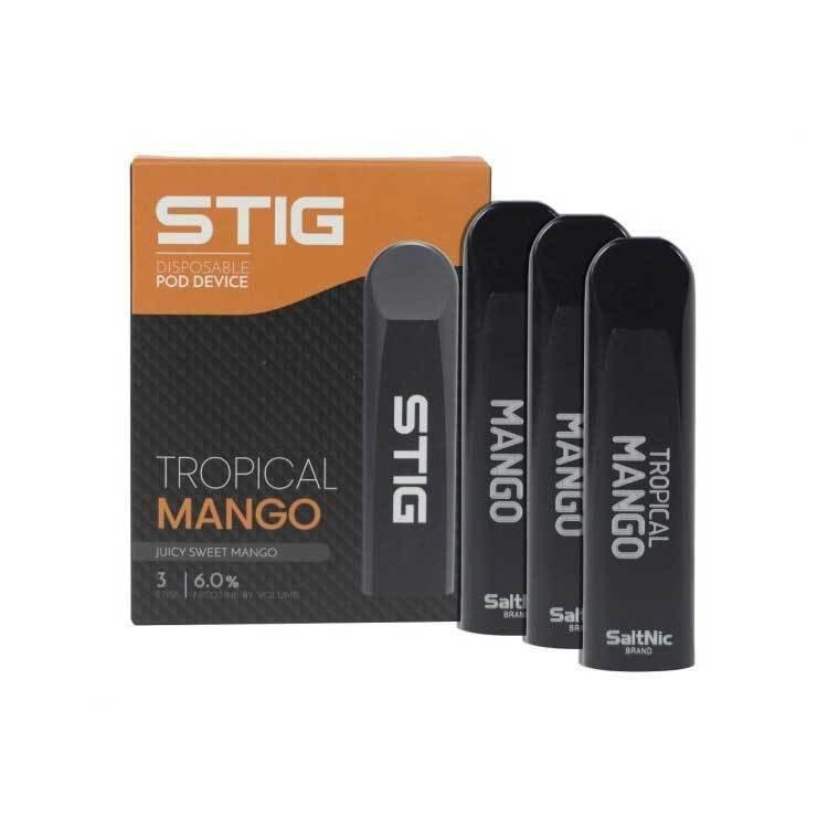 STIG Tropical Mango 3-Pack Disposable Device - علبة 3 أجهزة مانجو استوائية من ستيج