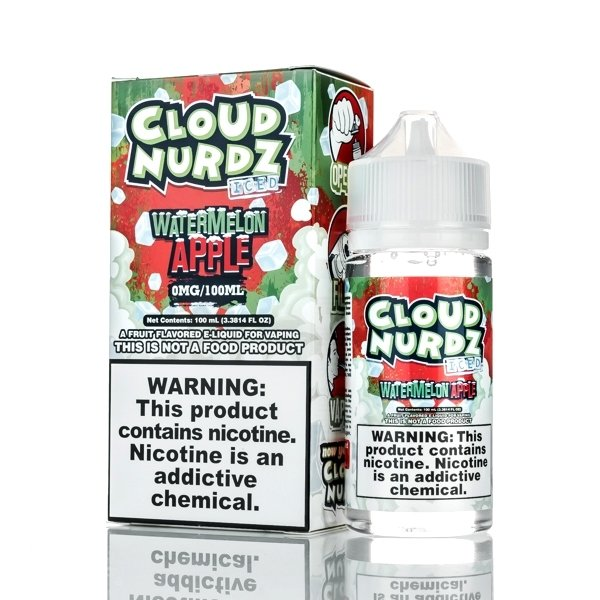Cloud Nurdz - Watermelon Apple Iced كلاود نيردز بطيخ وتفاح بارد